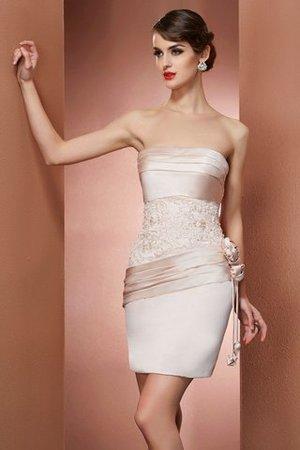 Reißverschluss Ärmelloses Normale Taille Abiballkleid aus Satin mit Blume UmImna