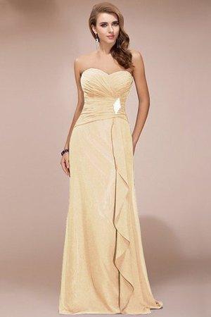 Empire Taille Bodenlanges Anständiges Brautjungfernkleid mit Perlen mit Rüschen 1HcVLljTs