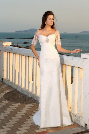 Empire Taille Beach Stil Sittsames Bodenlanges Brautkleid mit Applikation