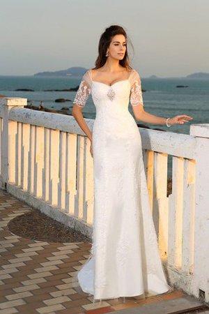 Empire Taille Beach Stil Sittsames Bodenlanges Brautkleid mit Applikation 5XjvuQ