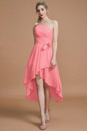 Ein Schulter A-Line Normale Taille Prinzessin Reißverschluss Brautjungfernkleid hYUP4YoTnL