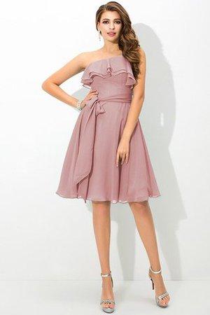 Ein Träger a linie Mini Brautjungfernkleid mit Schleife mit Gürtel EY0Vj