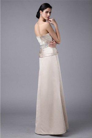 Trägerlos Reißverschluss Bodenlanges Brautmutterkleid mit Blume mit Perlen fobXf