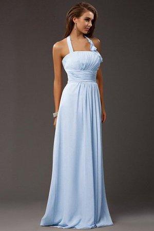Empire Taille Chiffon Ärmellos Enges Brautjungfernkleid mit Rüschen dUz2opkLey