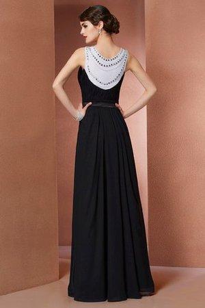 Ärmelloses Perlenbesetztes Empire Taille Anständiges Abendkleid aus Chiffon EhPO3v