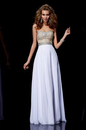 Prinzessin Ärmelloses Herz-Ausschnitt Abendkleid mit Reißverschluss aus Chiffon x3mjKIEu9P