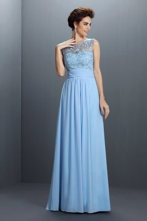 Ärmelloses Prinzessin Normale Taille Bodenlanges Abendkleid mit Applikation mNfIt05k