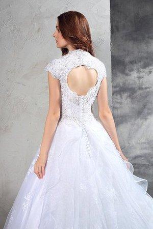Reißverschluss Organza Anständiges Brautkleid mit Herz-Ausschnitt mit Bordüre l2mXHzXQ1l