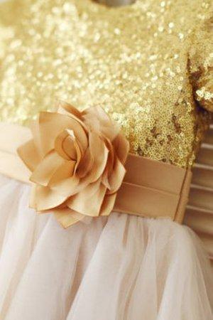 Prinzessin A-Linie Reißverschluss Normale Taille Bodenlanges Blumenmädchenkleid jLlp9tAo29