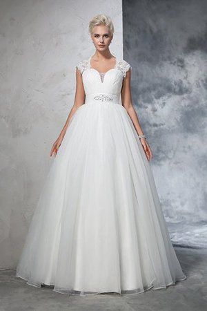 Sweep train Duchesse-Linie Tüll Anständiges Brautkleid ohne Ärmeln ok6qusB