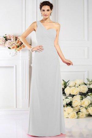 Ein Träger Prinzessin Drapiertes Bodenlanges Brautjungfernkleid aus Chiffon eFMJT