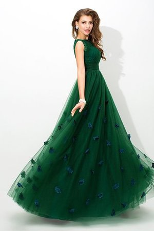 Prinzessin A-Line Ärmelloses Bodenlanges Sittsames Abendkleid iXIQGS0B3