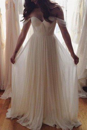 Ärmelloses A-Line Perlenbesetztes Prinzessin Schulterfreier Ausschnitt Brautkleid U45fPV1
