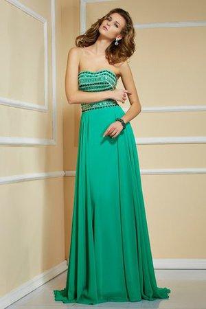 Prinzessin trägerloser Ausschnitt Reißverschluss Chiffon Anständiges Abendkleid 6iP22vco