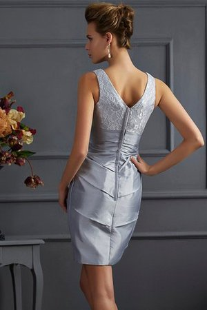 Empire Taille Taft Mini Brautmutterkleid mit Reißverschluss ohne Ärmeln oG3m2