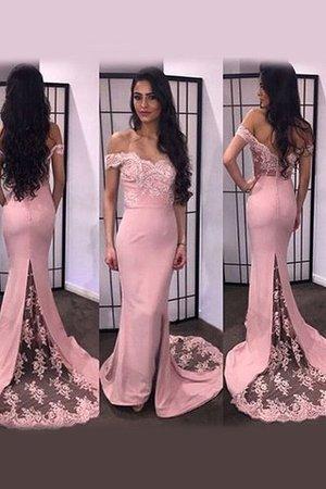 Ärmelloses Natürliche Taile Langärmeliges Meerjungfrau Stil Satin Abendkleid ugGgg4bX1