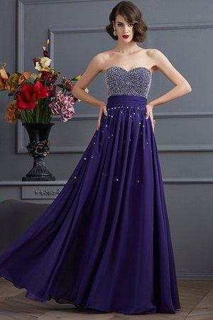 A-Linie Prinzessin Reißverschluss Empire Taille Chiffon Abendkleid apBpZKj
