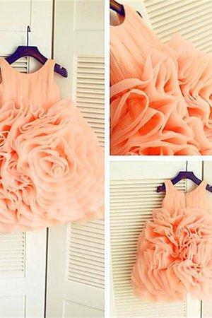 Organza Empire Taille Duchesse-Linie Reißverschluss Wadenlanges Blumenmädchenkleid yDm1uFy5Xo