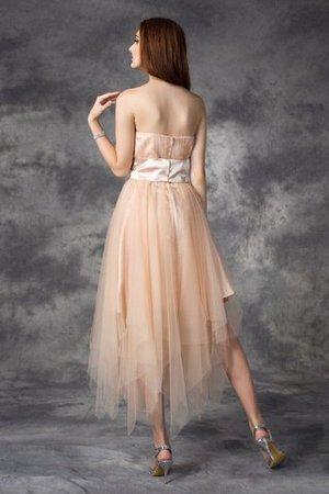 Prinzessin Trägerlos Sittsames Knöchellanges Abiballkleid mit Empire Taille 8Cn5ToIL