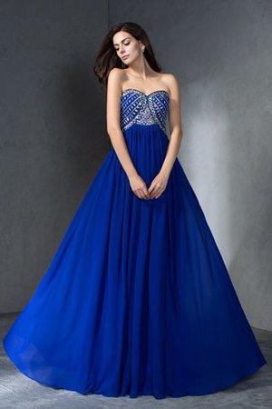 Ärmelloses Prinzessin Perlenbesetztes Anständiges Abendkleid aus Chiffon x5gVBrv