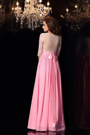 Seide wie Satin A-Linie Ärmellos Abendkleid mit Applikation mit Empire Taille NSa3re