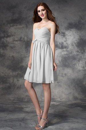 A-Line Normale Taille Mini Brautjungfernkleid mit Rüschen ohne Ärmeln GLz3AD
