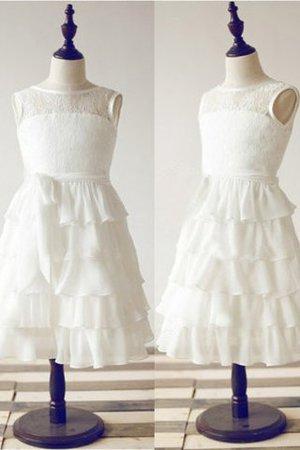 Ärmelloses Chiffon Prinzessin Bodenlanges Blumenmädchenkleid mit Reißverschluss JwuQCd