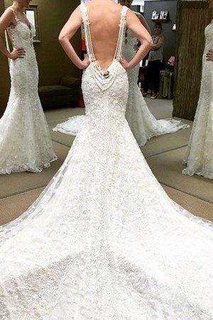 Schulterfrei Normale Taille Duchesse-Linie Bodenlanges Brautkleid mit Bordüre TP0PIp