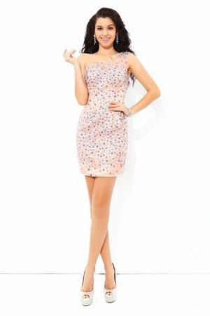 Etui Normale Taille Elastischer Gewebter Satin Mini Cocktailkleid ohne Ärmeln ttLIxy22