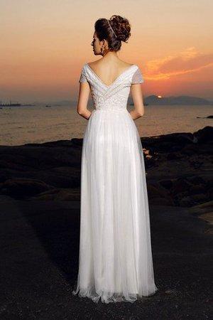 Empire Taille A-Line Seeküste Bodenlanges Brautkleid mit Perlen YFVhbJIR