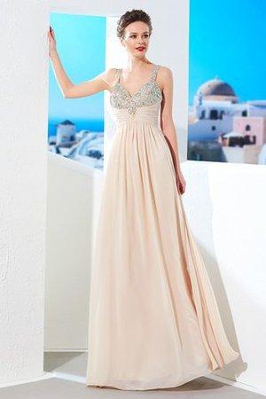 Prinzessin A-Linie Normale Taille Bodenlanges Abendkleid mit Reißverschluss HHuZLFaUZ2