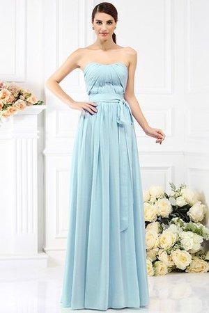 Prinzessin Chiffon A-Line Trägerloser Ausschnitt Brautjungfernkleid mit Gürtel cy8MEgUXe