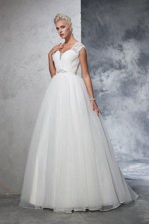 Sweep train Duchesse-Linie Tüll Anständiges Brautkleid ohne Ärmeln TroHWa