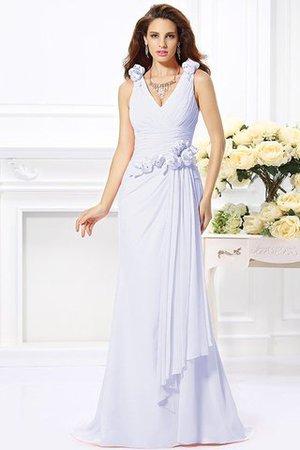 Normale Taille Meerjungfrau Chiffon V-Ausschnitt Anständiges Brautjungfernkleid hhdtCeA