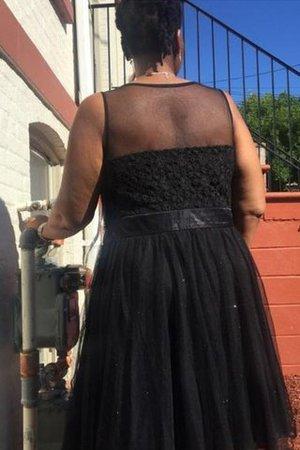 Prinzessin Übergröße A-Linie Ärmelloses Kurzes Ballkleid XRdWxU
