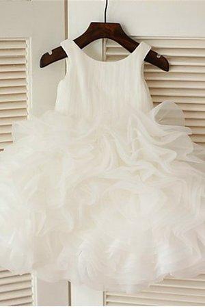 Organza Empire Taille Duchesse-Linie Reißverschluss Wadenlanges Blumenmädchenkleid gkABKt
