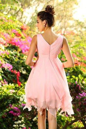 Prinzessin Chiffon Ärmelloses Mini Knielanges Brautjungfernkleid Cml4h