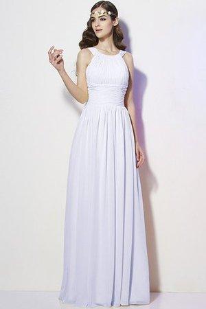 Reißverschluss Bateau Chiffon Empire Taille Brautjungfernkleid mit Plissierungen swI8QEbK2C