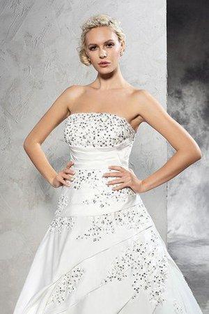Satin Gericht Schleppe Duchesse-Linie Ärmelloses Brautkleid mit Reißverschluss EektV
