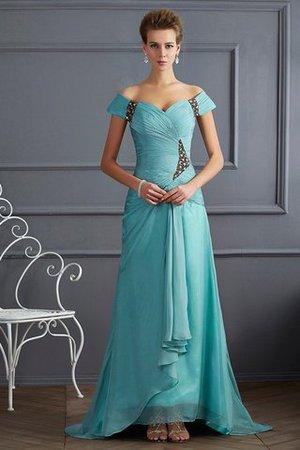 Chiffon Normale Taille Prinzessin Ärmelloses Abendkleid mit Reißverschluss 87Azg