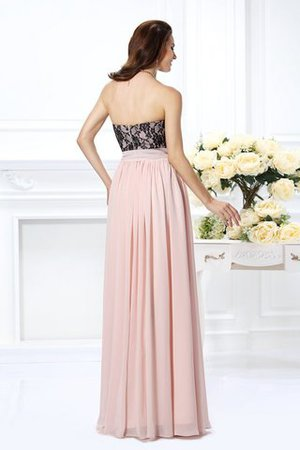 Prinzessin A-Linie Bodenlanges Abendkleid mit Herz-Ausschnitt mit Bordüre Js7I5cT