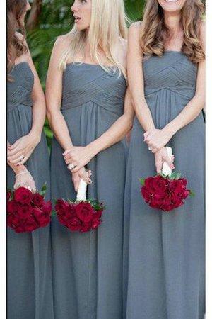 Prinzessin A-Line Empire Taille Ärmelloses Brautjungfernkleid aus Chiffon 8vpLy89K7g