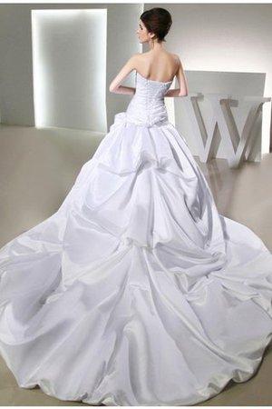 Satin Duchesse-Linie Trägerloser Ausschnitt Anständiges Brautkleid mit Applikation fsVQvwP1