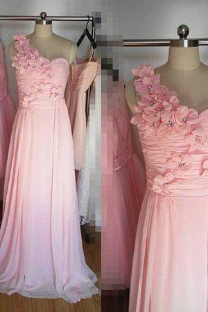 Ein Träger Normale Taille Prinzessin a linie Brautjungfernkleid mit Blume 9ODMeBCN