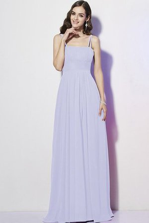 Drapiertes Chiffon Enges Brautjungfernkleid ohne Ärmeln mit Reißverschluss TvMNCI1
