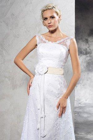 Gericht Schleppe Etui Normale Taille Sittsames Brautkleid mit Rücken Schnürung tn9T4