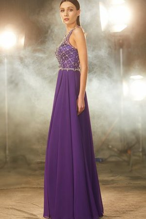 Prinzessin Natürliche Taile Ärmelloses A-Line Bodenlanges Abendkleid vDAJK