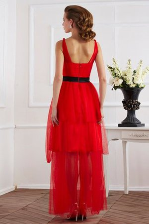 Empire Taille Knöchellanges Sittsames Abendkleid mit Reißverschluss mit Drapierung FwhCkXr