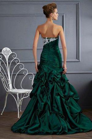 Duchesse-Linie Reißverschluss Sittsames Partykleid mit Applikation ohne Ärmeln yWl9K