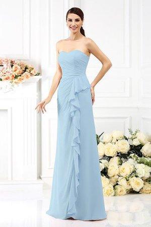 Prinzessin Plissiertes a linie Drapiertes Trägerloser Ausschnitt Brautjungfernkleid mgKK6